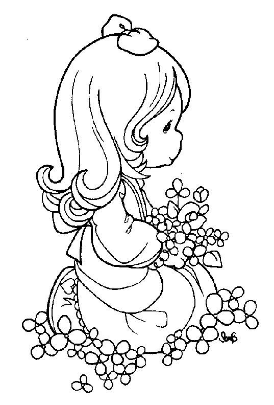 537x792 Easy Printable Precious Moments Coloring Pages