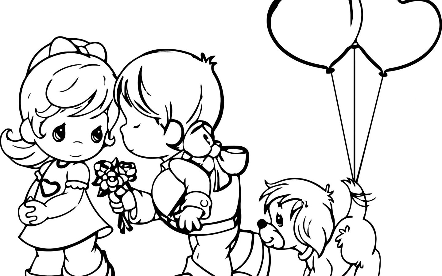 1440x900 Excellent Precious Moments Coloring Pages Printable With Page