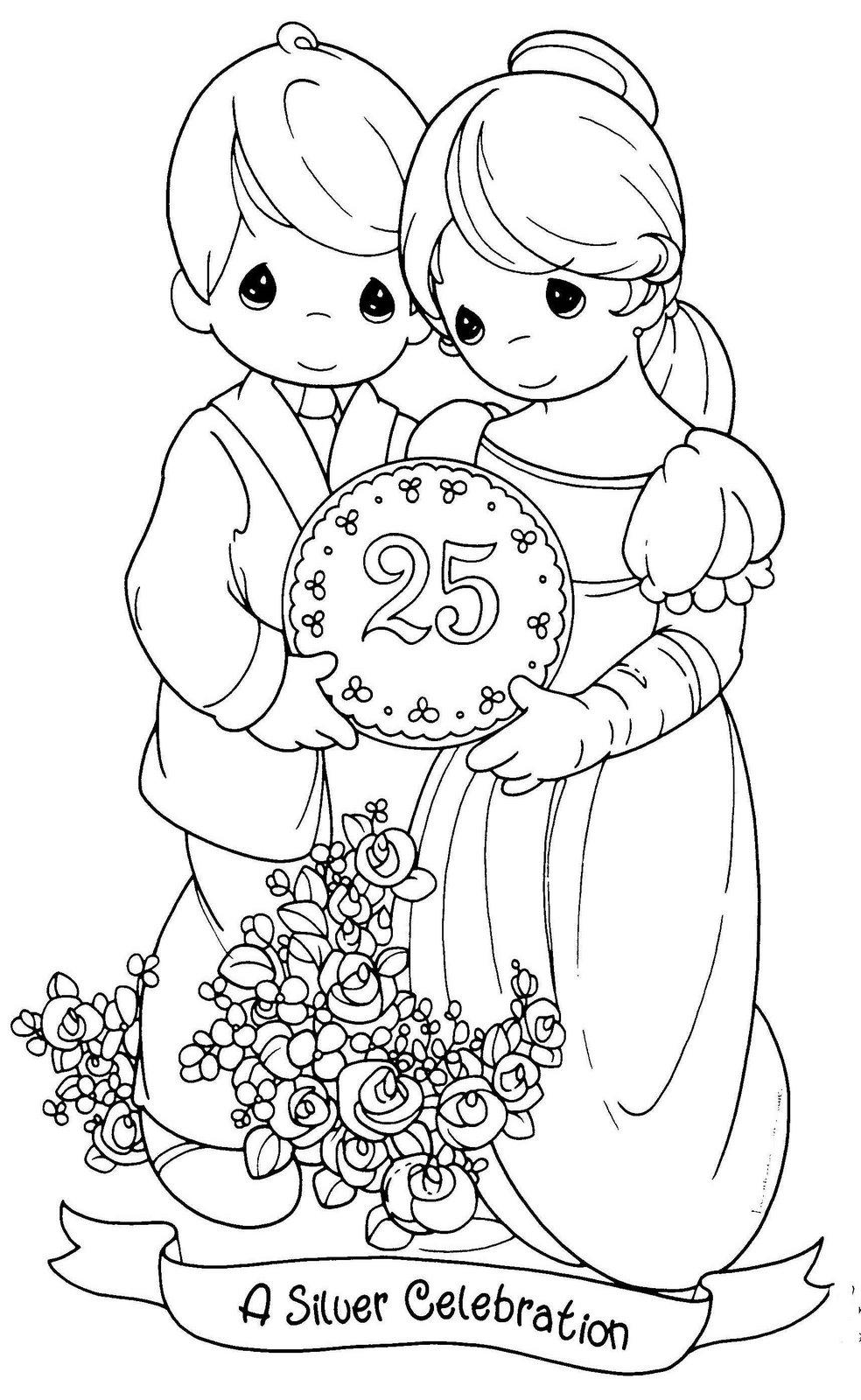 984x1600 Highest Happy Anniversary Coloring Page Download Precious Moments