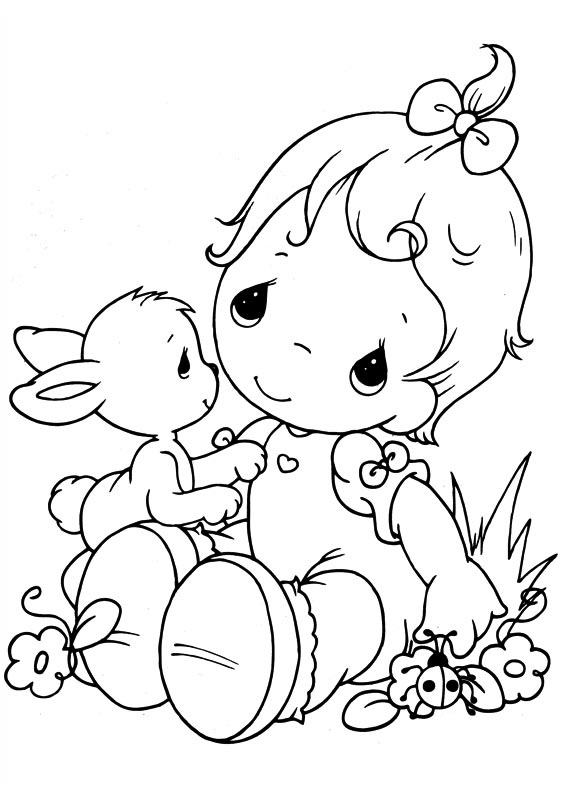 567x794 Baby Coloring Pages Precious Moments