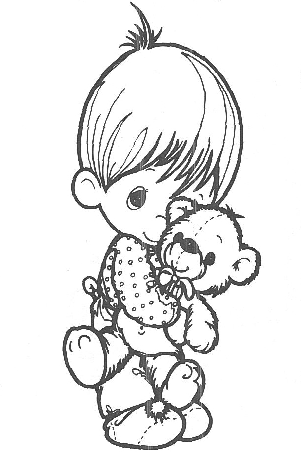 607x915 Precious Moments Teddy Bear Coloring Pages