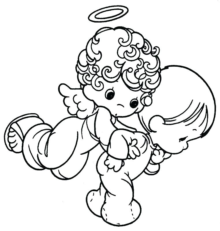 762x800 Coloring Page Angel Angels Coloring Pages Print Click To See