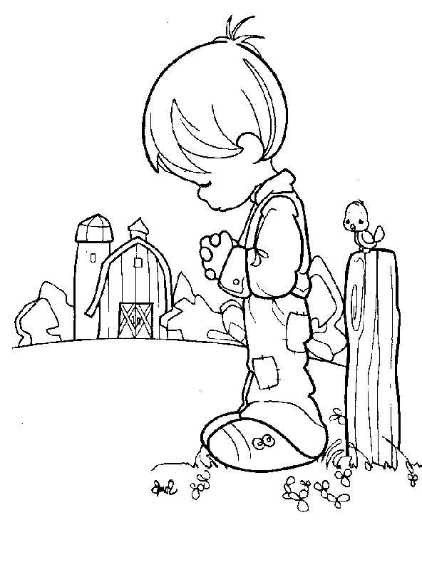 Precious Moments Religious Coloring Pages