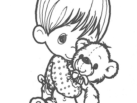 Precious Moments Valentine Coloring Pages at GetDrawings.com ...