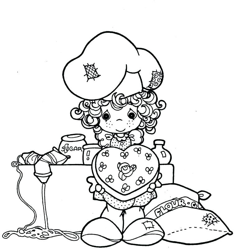 Precious Moments Valentine Coloring Pages at GetDrawings.com | Free ...