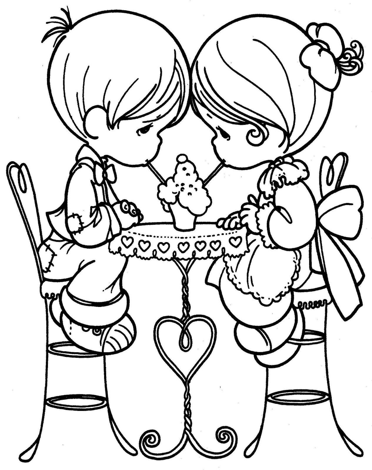 Precious Moments Valentine Coloring Pages At Getdrawings Com