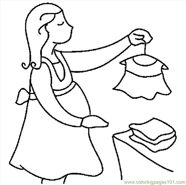 650x644 Pregnant Woman Shopping Coloring Page