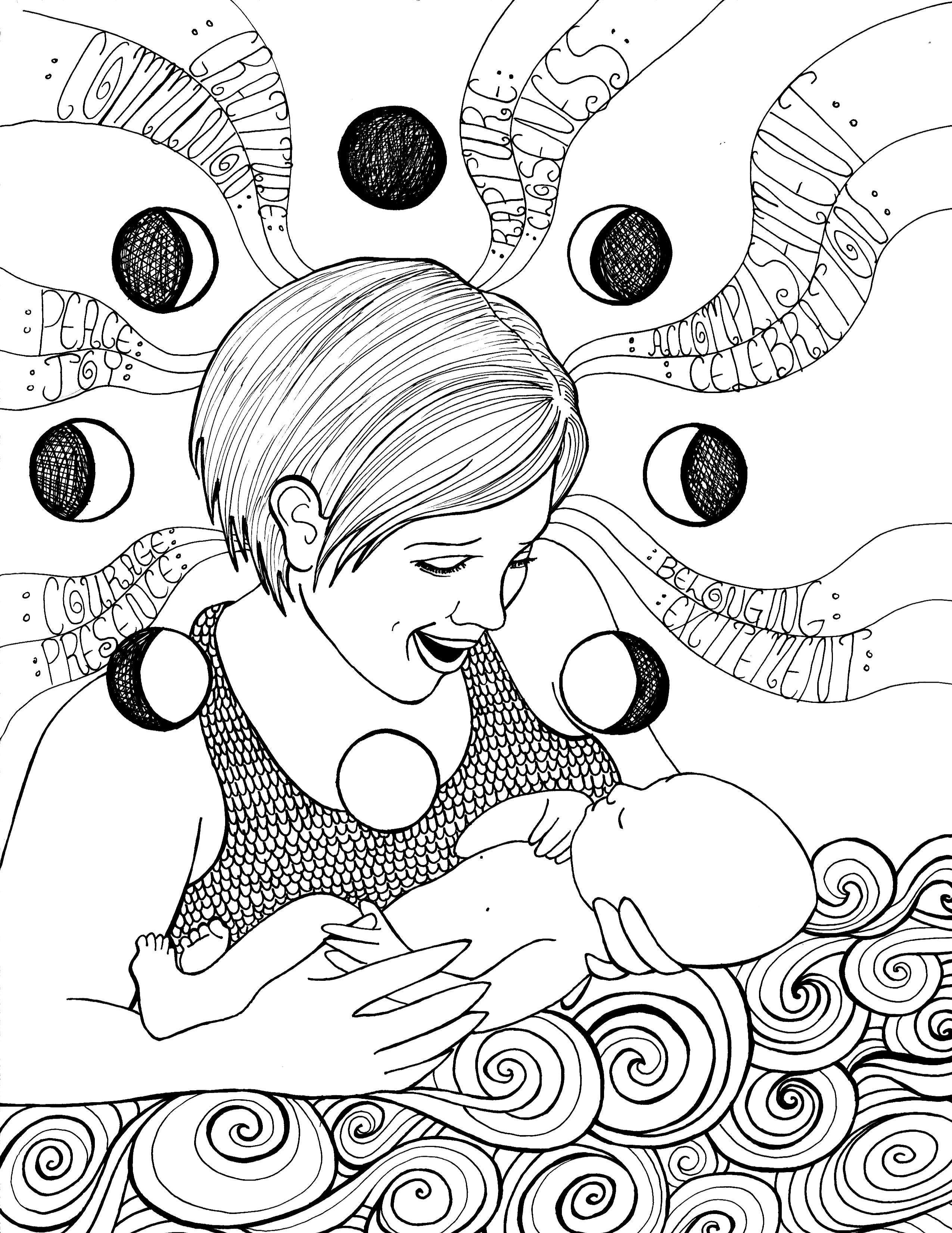 2550x3300 Coloring Pages Of Pregnant Woman