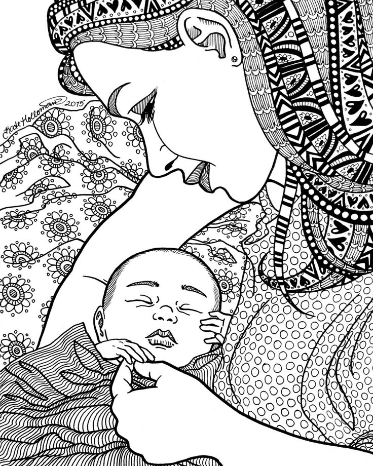 736x920 A R T Adult Coloring, Birth