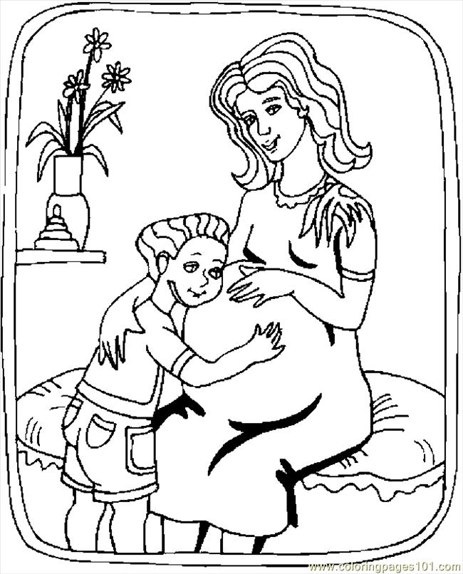 650x806 Pregnant Mom Coloring Pages