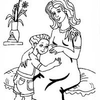 200x200 Pregnant Woman Coloring Pages Babies