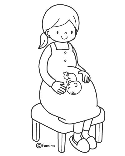 400x500 Pregnant Woman Free Printables Pages Coloring Pages Educatie