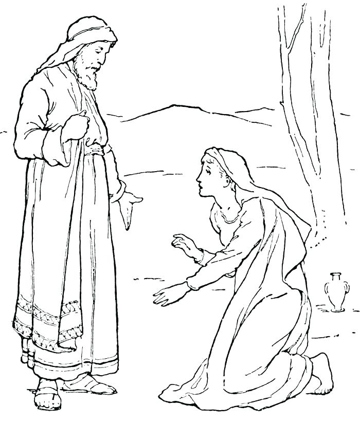 700x823 Woman Coloring Page Coloring Pages From The Bible Bible Woman