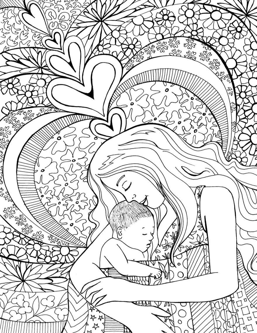878x1136 Beautiful Birth Coloring Page For Preparing For Childbirth