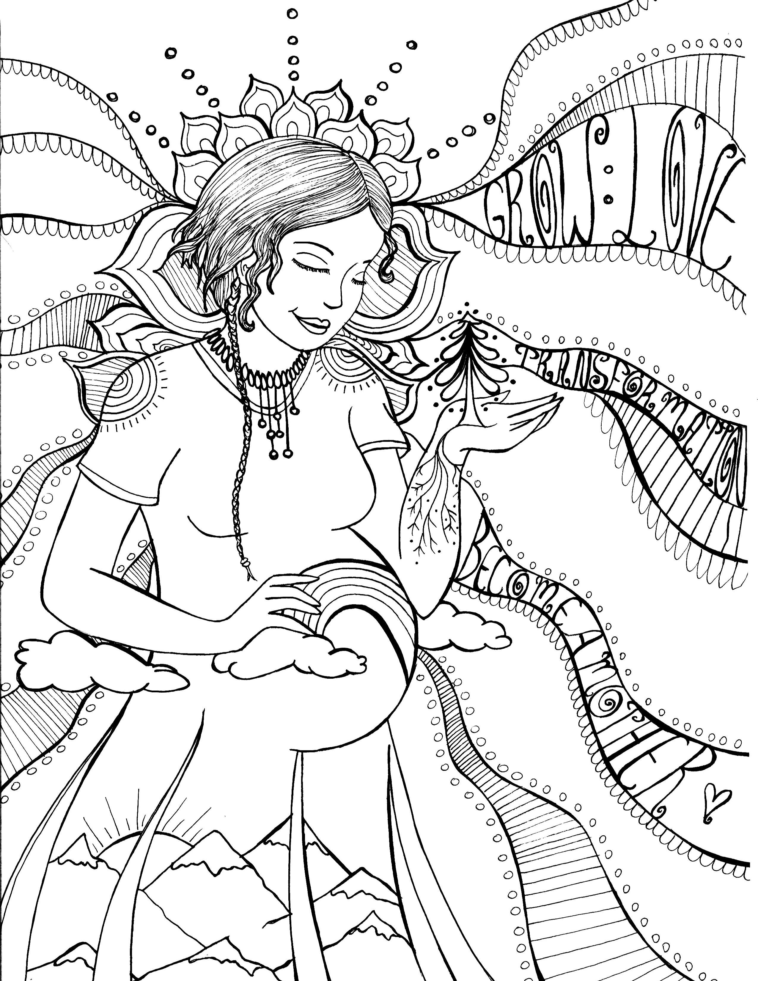 2550x3300 Blissful Belly Colouring Journal Colour And Write Your Way