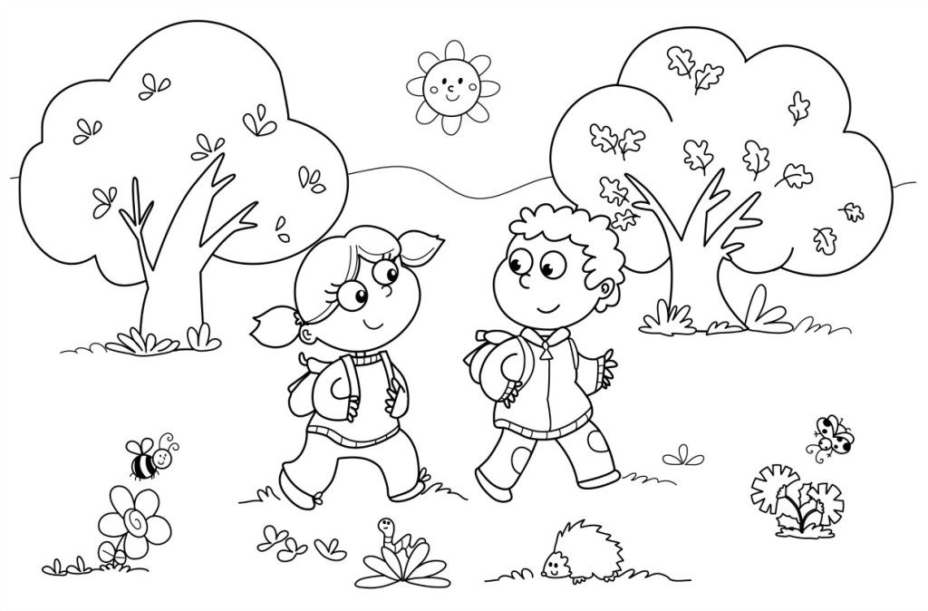 Preschool Children Coloring Pages At Getdrawings Com Free For
