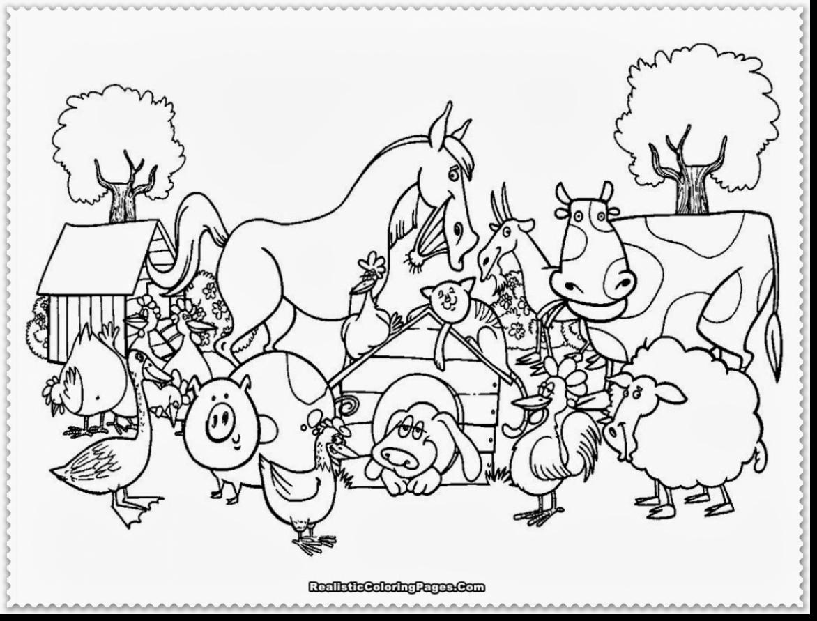 Preschool Farm Animal Coloring Pages At Getdrawings Com