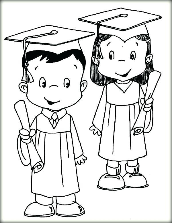 600x778 Graduation Coloring Pages Graduation Coloring Pages Graduation