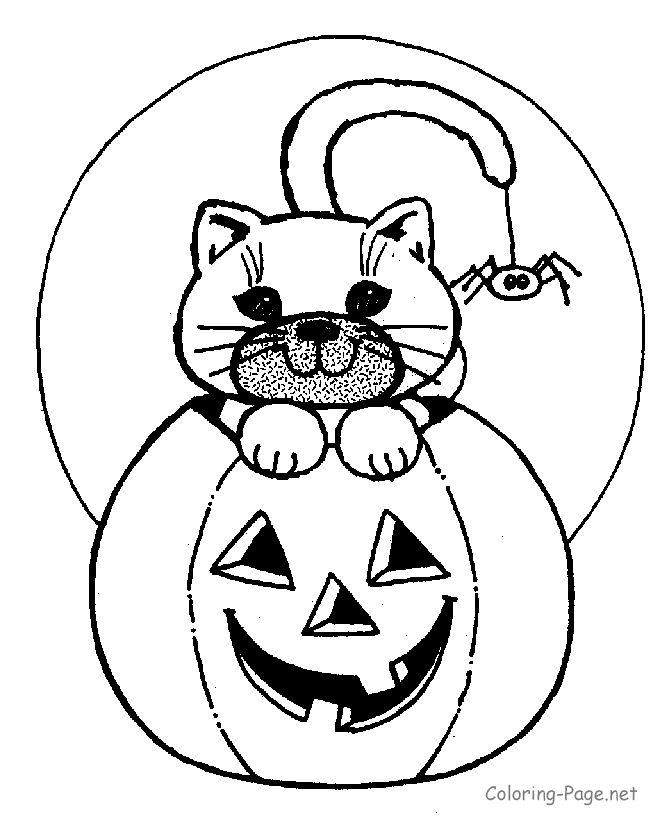 Preschool Halloween Coloring Pages