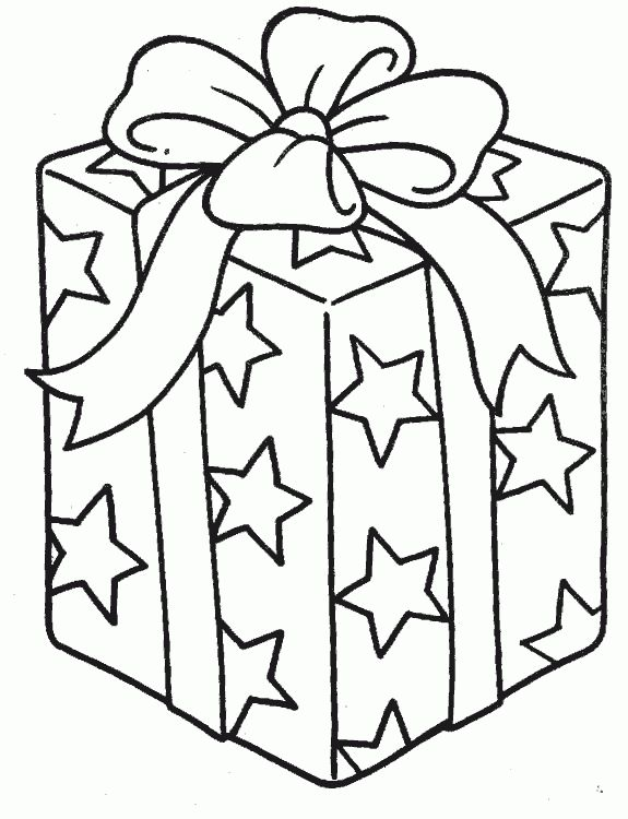 Present Box Coloring Pages