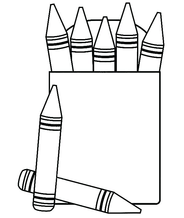 600x708 Box Coloring Pages Crayon Box Coloring Pages Free To Print A Gift