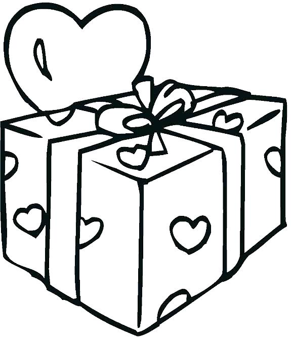 Present Box Coloring Pages At Getdrawings Free Download