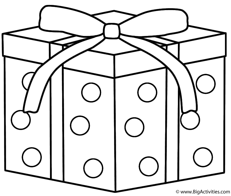 800x677 Christmas Gift Coloring Pages