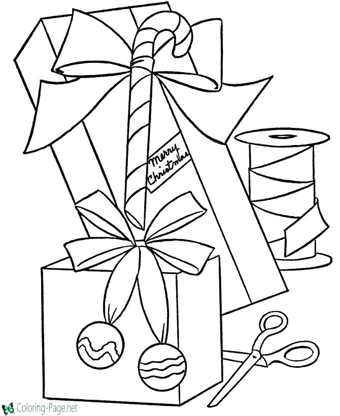 670x820 Present Coloring Pages Free Coloring Santa Delivering Presents