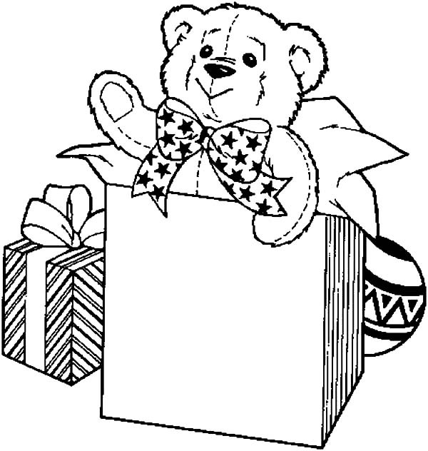600x632 Big Birthday Present Box Coloring Pages Best Place To Color