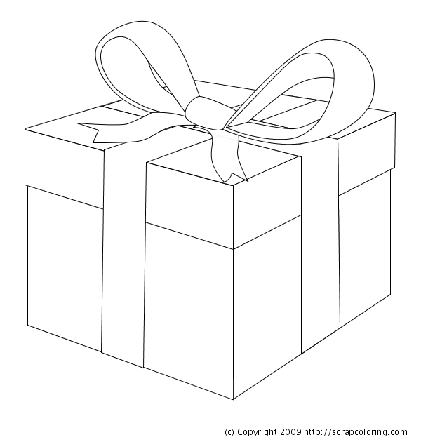 600x630 Ribbon Gift Boxes Coloring Pages