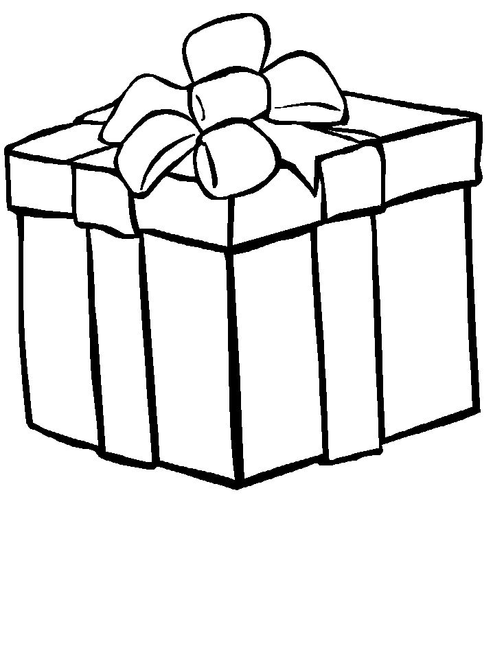 718x957 Birthday Box Present Coloring Page In Remodel