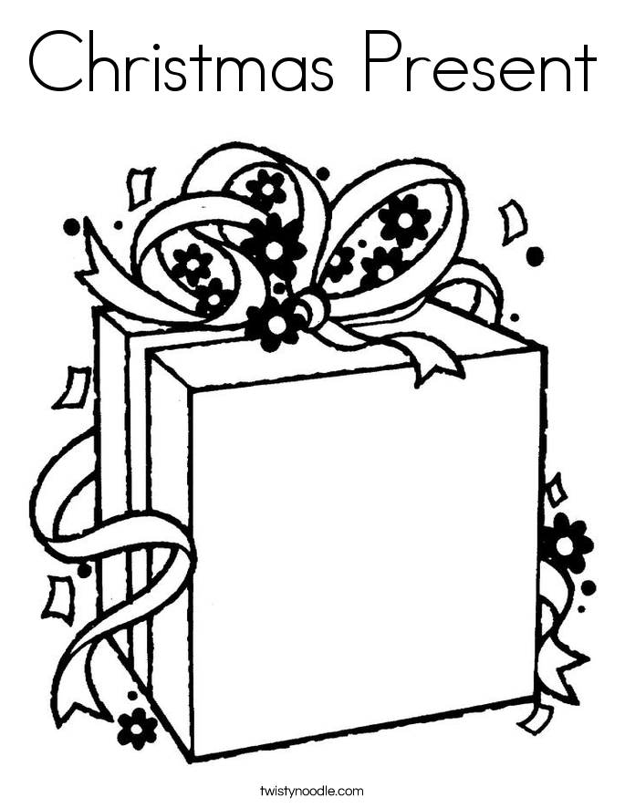 685x886 Christmas Present Coloring Page