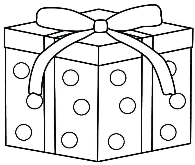 800x677 Christmas Present Coloring Page Download Large Image Christmas