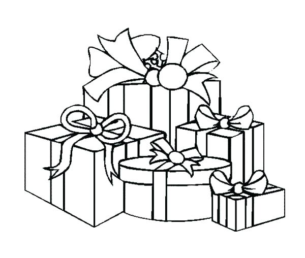 600x508 Birthday Present Colouring Page Coloring Printable Amazing New X