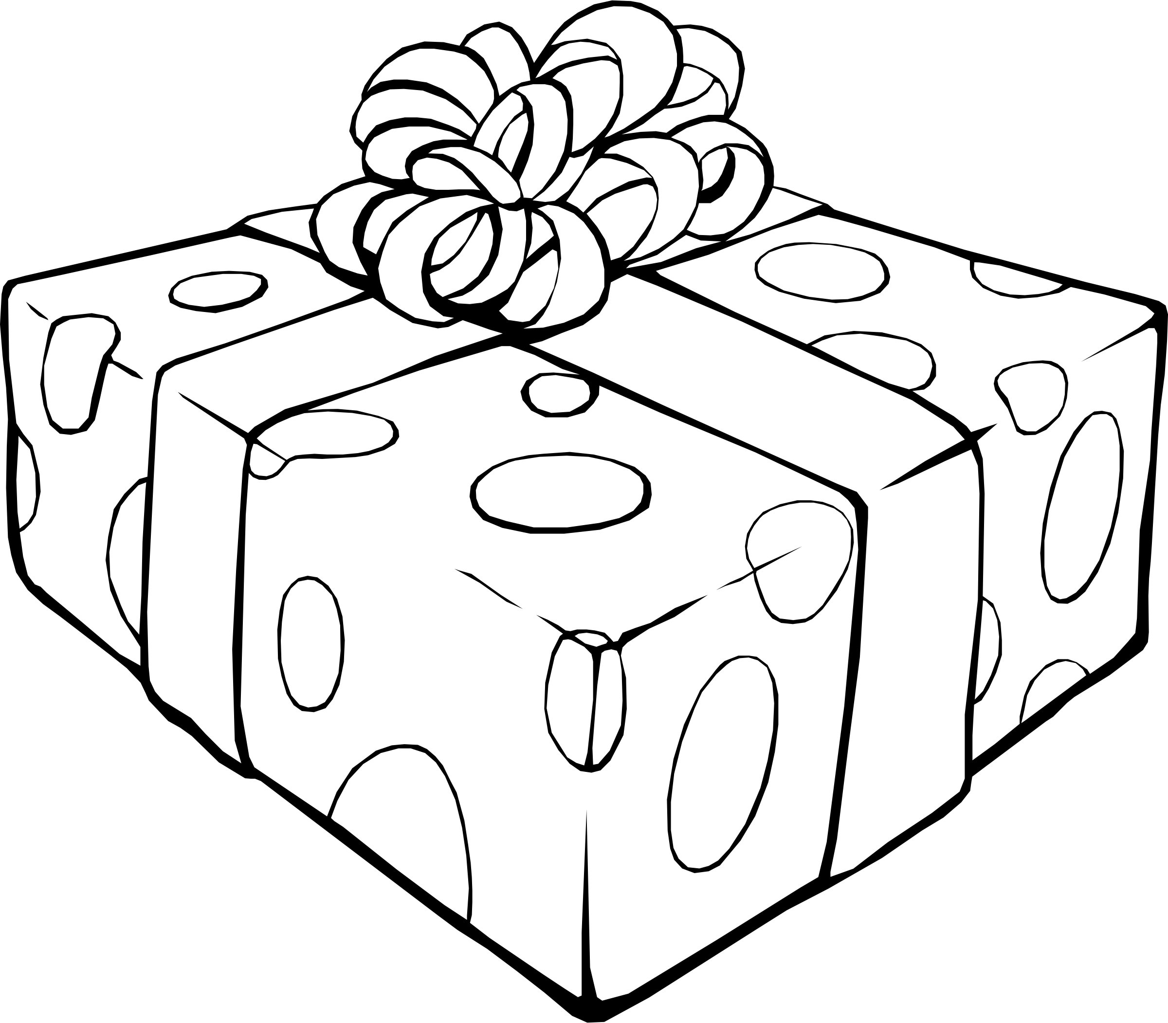2400x2102 Gift Coloring Pages New Present Page
