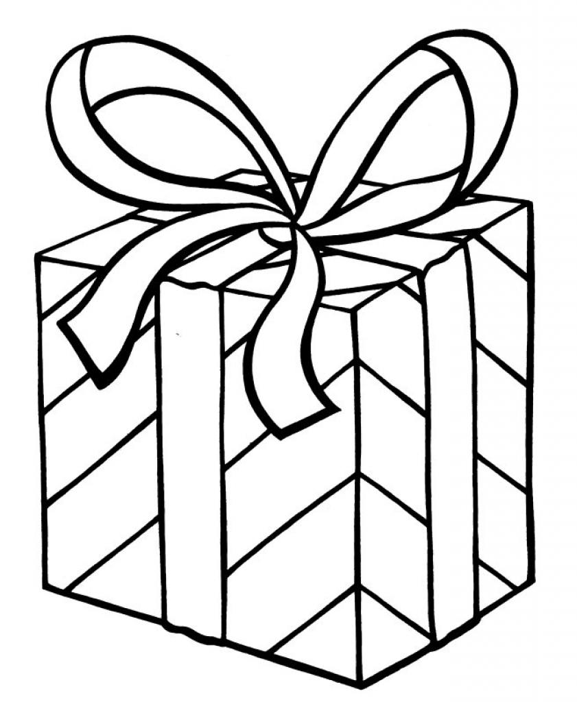 841x1024 My Christmas Present Coloring Page Arts Crafts Gift Templates