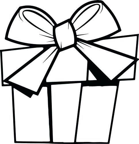 483x500 Present Coloring Page Big Bone Present Coloring Pages Present Bow