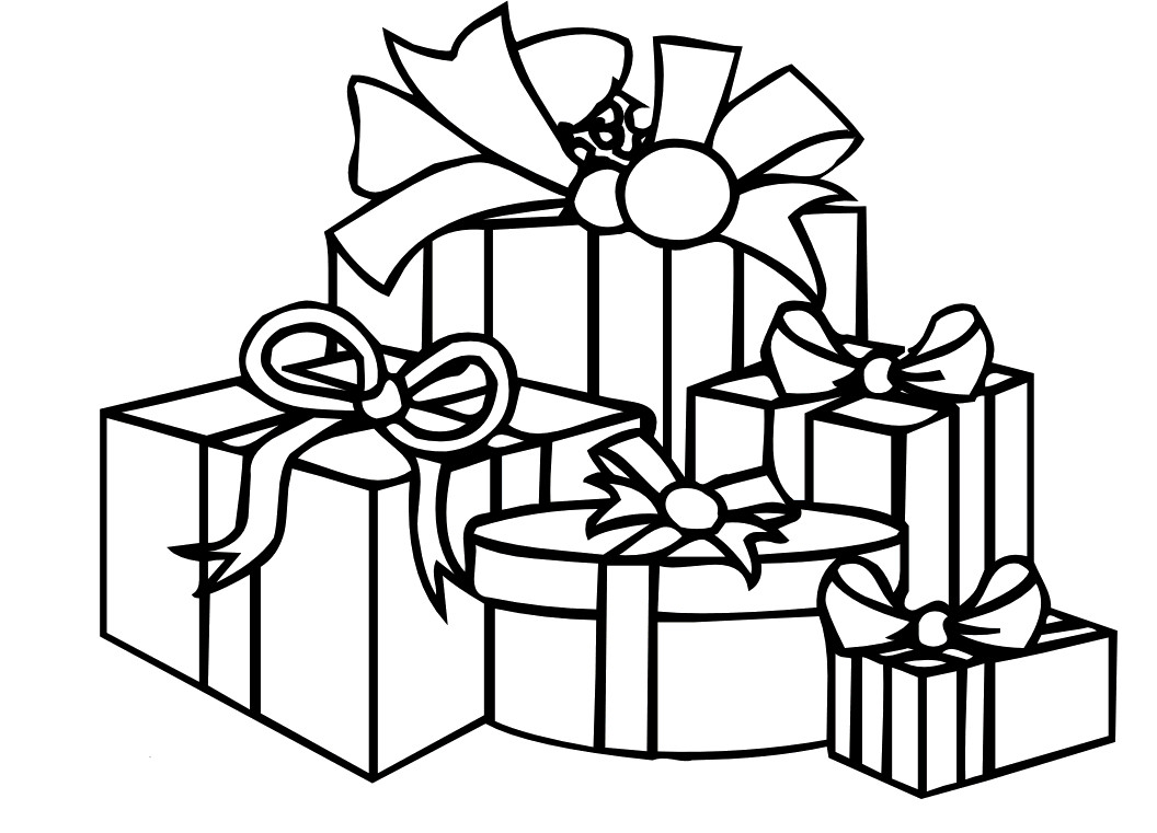 1056x761 Present Coloring Page Christmas Pages Presents Printable