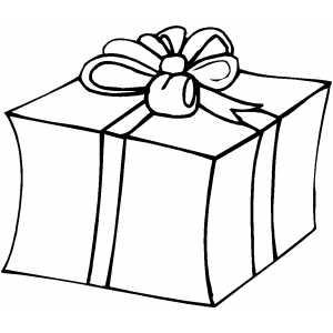 300x300 Present Coloring Page Christmas Pages Presents Printable