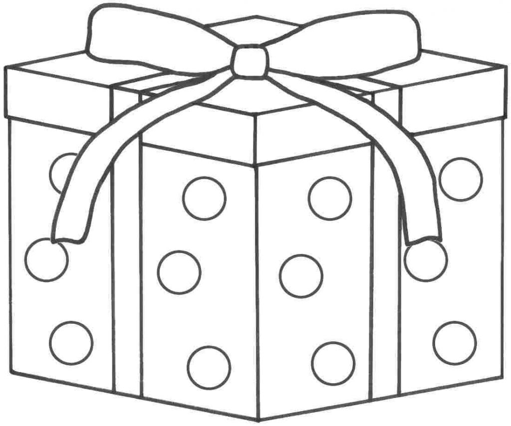 1024x854 Birthday Presents Coloring Page Awesome Cake Present Colouring