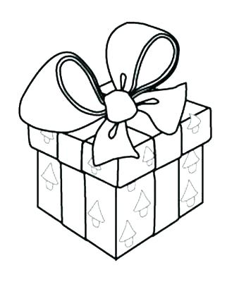 339x400 Christmas Present Coloring Page