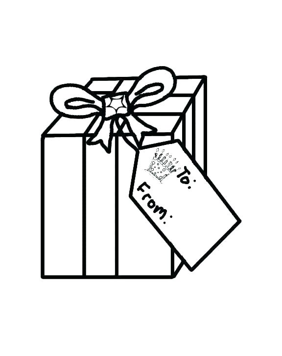 576x727 Christmas Present Coloring Page