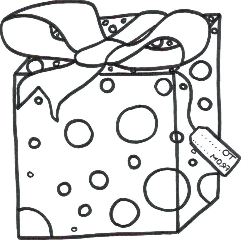 1024x1021 Coloring Pages Present Coloring Page Gift Sheet Bow Present