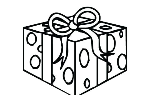 469x304 Present Coloring Page