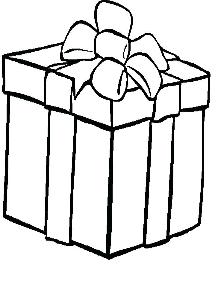 718x938 Christmas Gift Coloring Page Present Coloring Pages Franklins