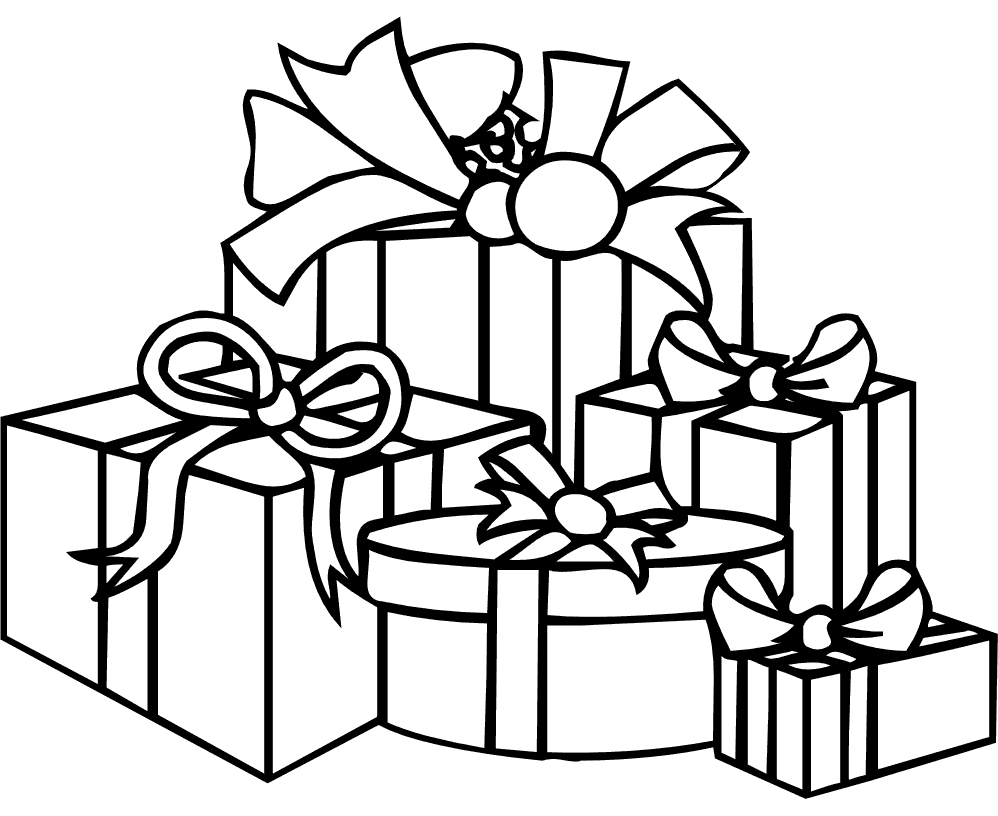 998x816 Christmas Gifts Coloring Pages Inside Presents Qqa Me At Present