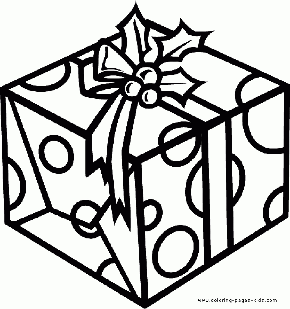 963x1024 Christmas Present Coloring Page