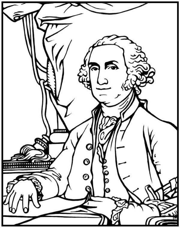 600x758 President Coloring Sheets Coloring Sheets