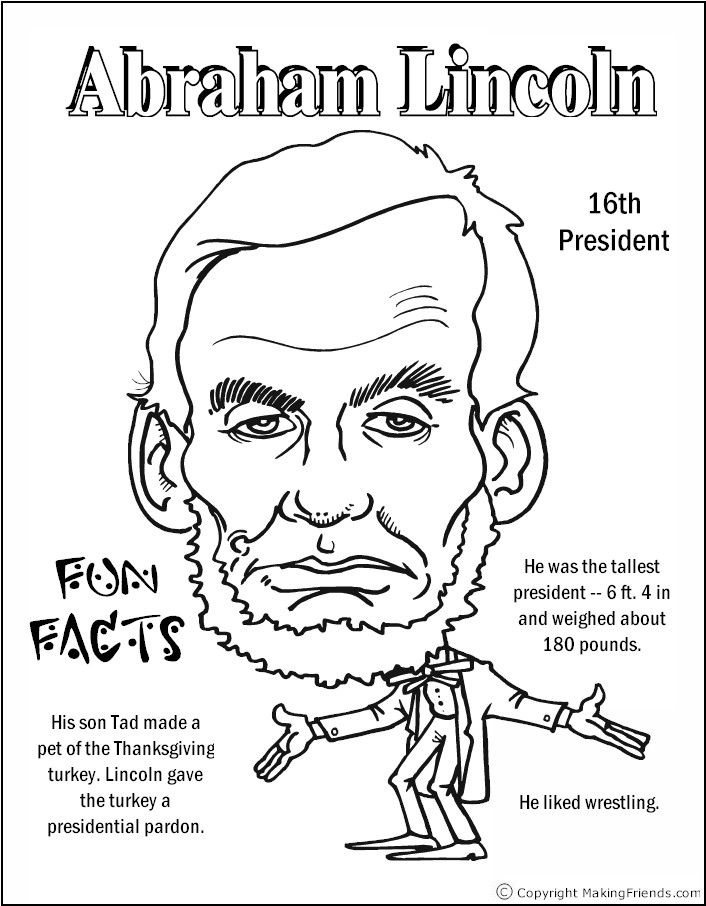 706x906 Abraham Lincoln Coloring Page Printable Lincoln Project