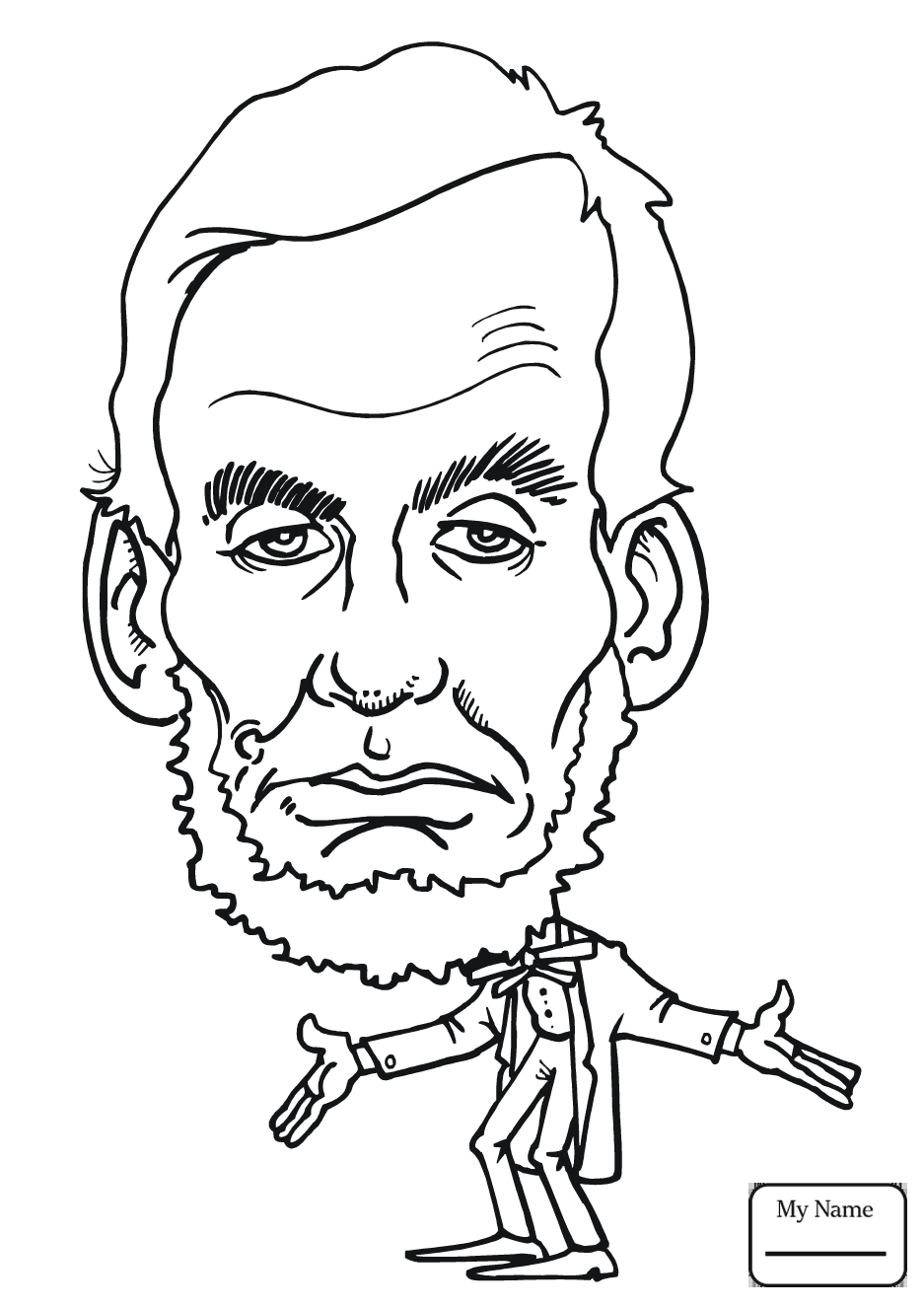 937x1326 Abraham Lincoln Coloring Page Paginone Biz Within